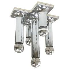 Original 1970s Staff Tube Ceiling Wall Lights Designed by Rolf Krüger, Germany