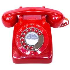 Original 1972 GPO Model 746 Telephone in Red, Original Nylon Carrying Strap