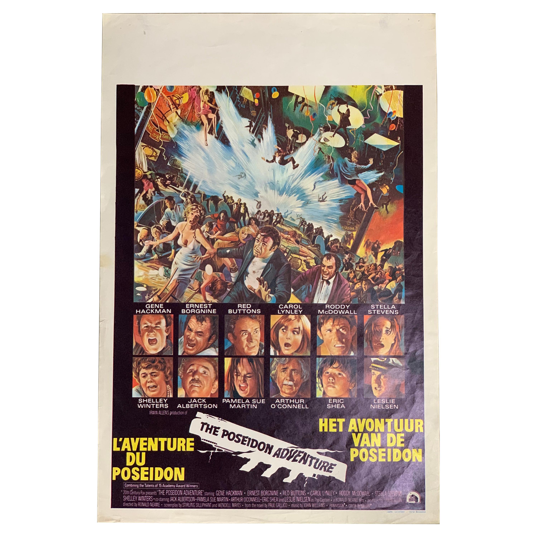 """Original 1972 Movie Poster """"The Poseidon Adventure"""", Belgium"""