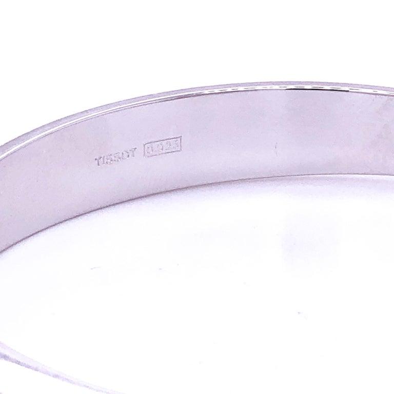 Original 1973 Tissot Pekka Pierkaeinen's Elliptical Sterling Silver Bangle Watch For Sale 6
