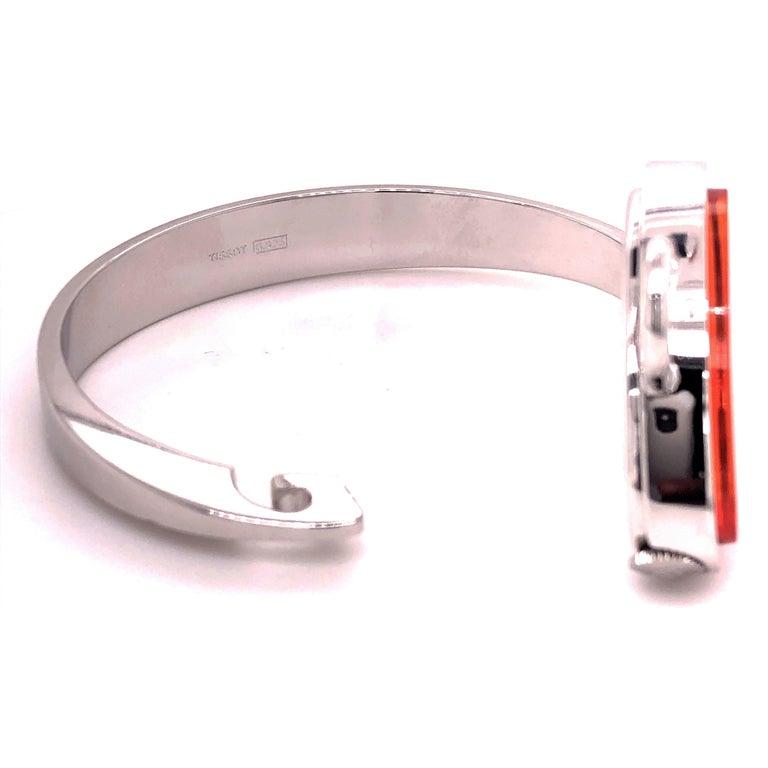 Original 1973 Tissot Pekka Pierkaeinen's Elliptical Sterling Silver Bangle Watch For Sale 7