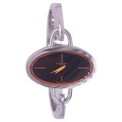 Original 1973 Tissot Pekka Pierkaeinen's Elliptical Sterling Silver Bangle Watch