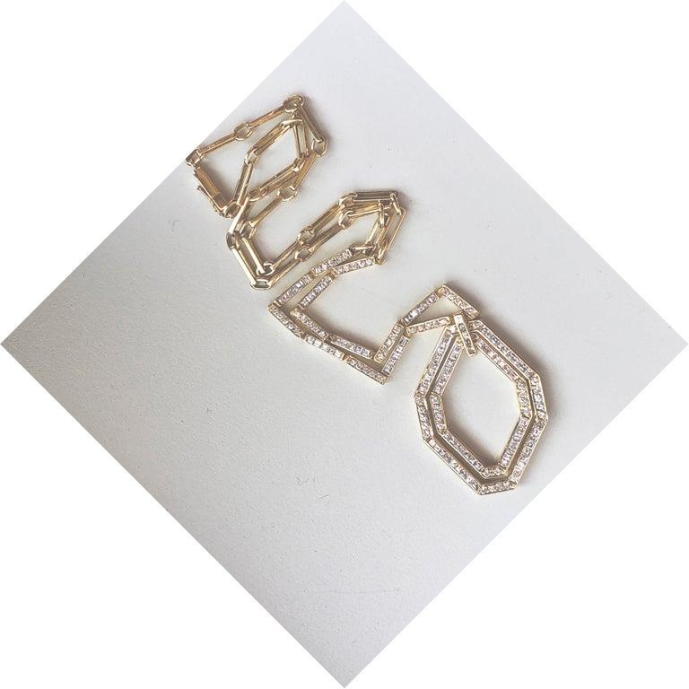 Original 1977 Bulgari Princess Brilliant Cut Diamond 18 Kt Yellow Gold Necklace In Excellent Condition For Sale In Valenza, IT
