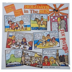 Original 1977 Holidays in the Sun Sex Pistols Promo Poster