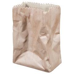 "Original 1977 Tapio Wirkkala Mini ""Paper Bag"" Ceramic Vase for Rosenthal"