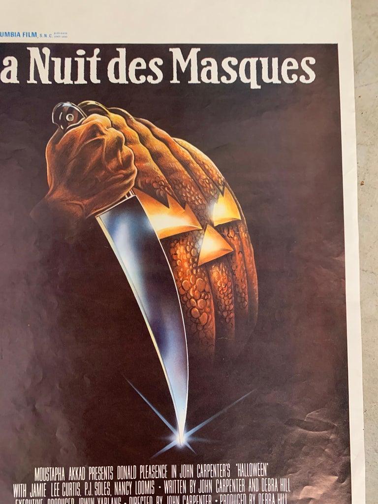 Other Original 1978 Halloween Film Poster, Belgium, John Carpenter, Jamie Lee Curtis For Sale