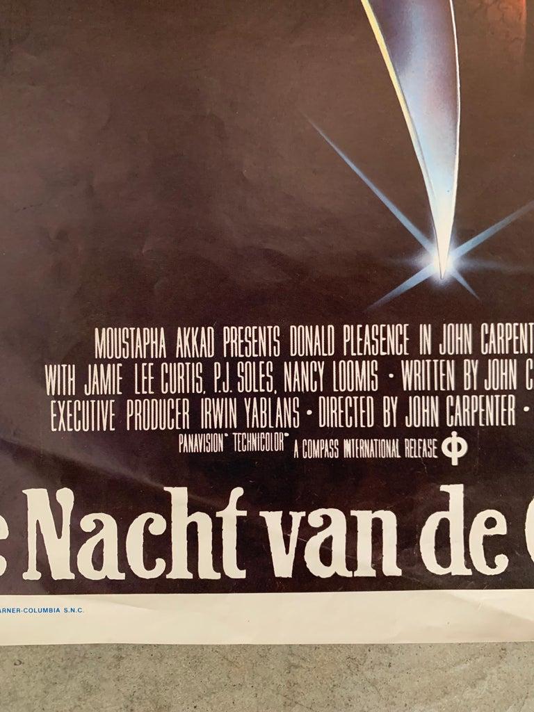 Belgian Original 1978 Halloween Film Poster, Belgium, John Carpenter, Jamie Lee Curtis For Sale