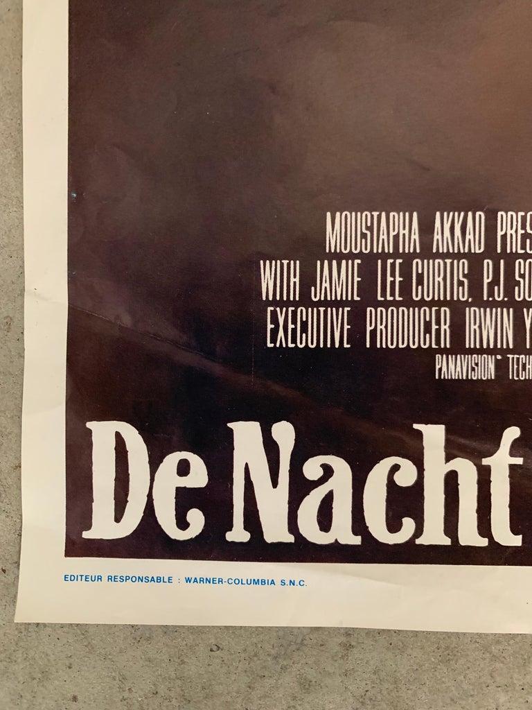 Late 20th Century Original 1978 Halloween Film Poster, Belgium, John Carpenter, Jamie Lee Curtis For Sale