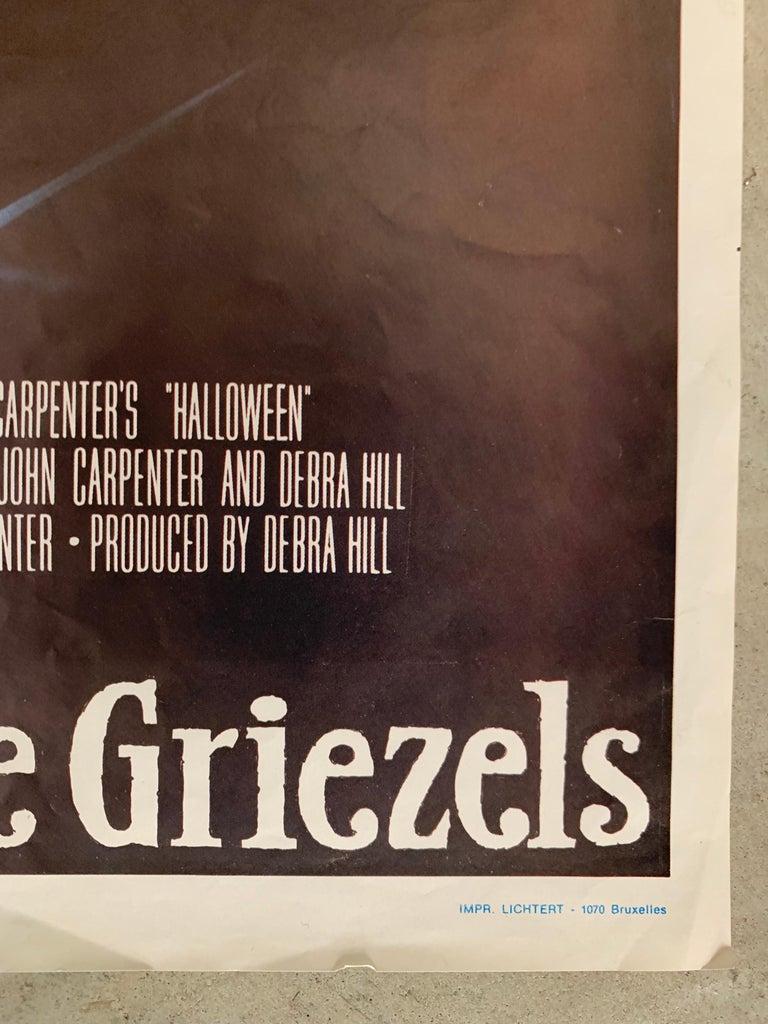 Paper Original 1978 Halloween Film Poster, Belgium, John Carpenter, Jamie Lee Curtis For Sale
