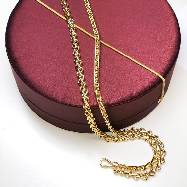 Original 1980 One-of-a-Kind Pomellato 18K Solid Yellow Gold Long Chain Necklace For Sale 5