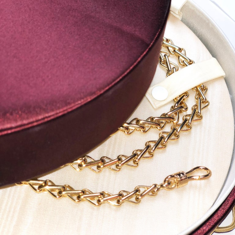 Original 1980 One-of-a-Kind Pomellato 18K Solid Yellow Gold Long Chain Necklace For Sale 9