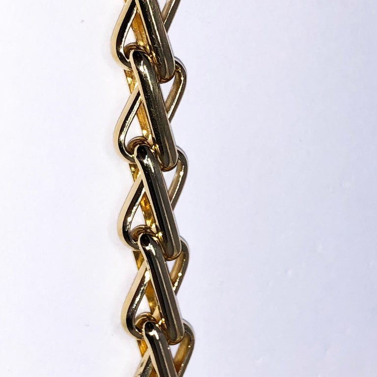 Original 1980 One-of-a-Kind Pomellato 18K Solid Yellow Gold Long Chain Necklace For Sale 1