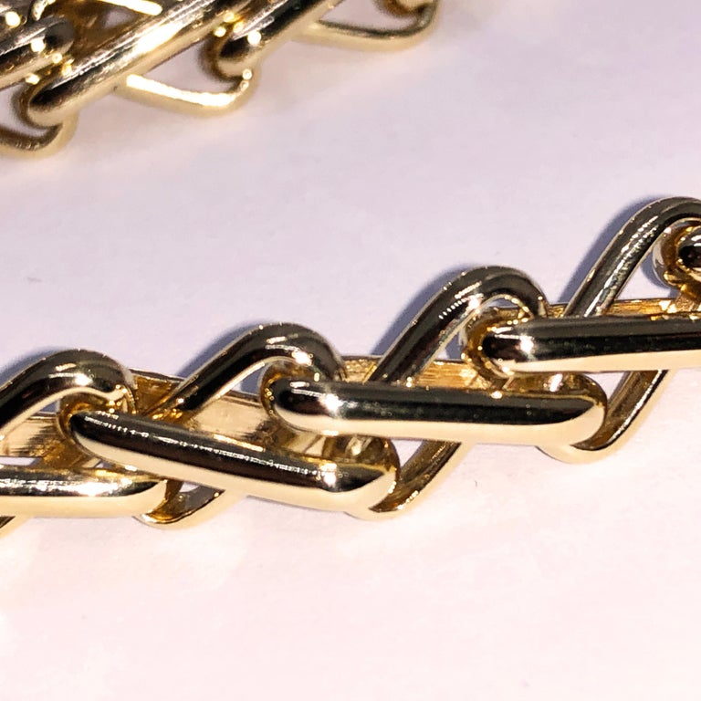 Original 1980 One-of-a-Kind Pomellato 18K Solid Yellow Gold Long Chain Necklace For Sale 4