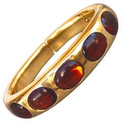 Original 1990 Madeira Citrine Yellow Gold Iconic Pomellato Bangle Bracelet