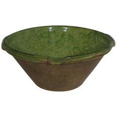 Original 19th Century, French Glazed Terracotta Tian or Bowl