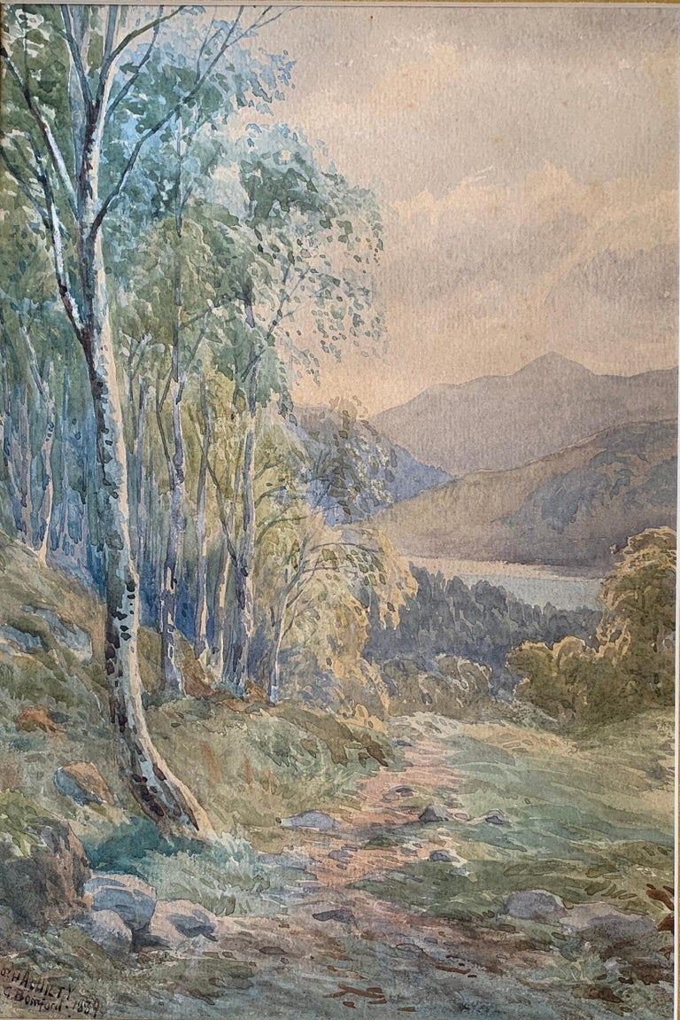 Beautiful original signed watercolor painting by listed, deceased English painter, Reverend Laurence George Bomford, (1847-1926) titled