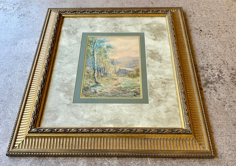 """Other Original 19th Century """"Loch Achilty"""" Watercolor Painting by L.G. Bomford, 1889 For Sale"""