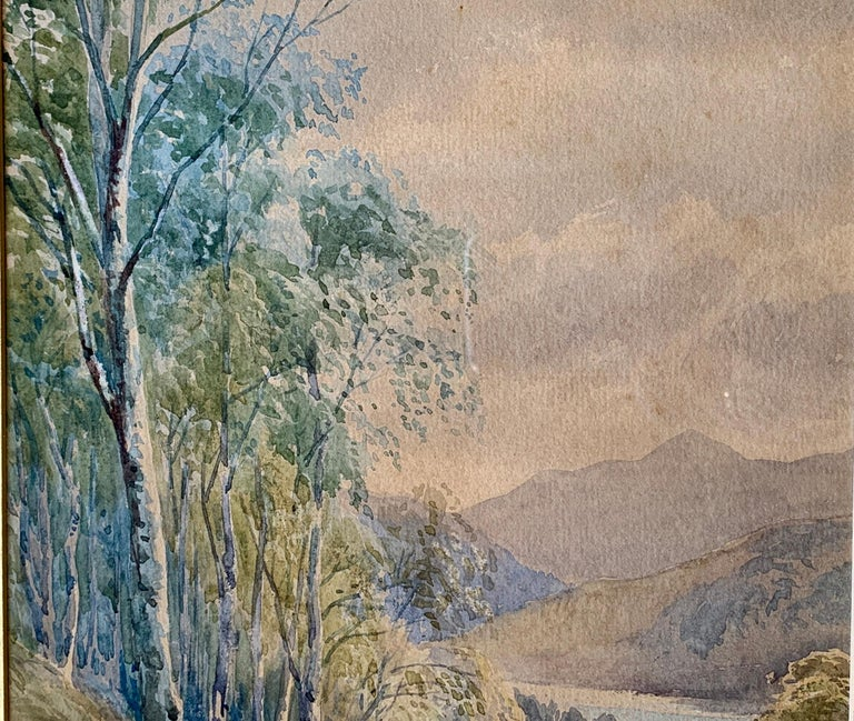 """Original 19th Century """"Loch Achilty"""" Watercolor Painting by L.G. Bomford, 1889 In Good Condition For Sale In Tustin, CA"""