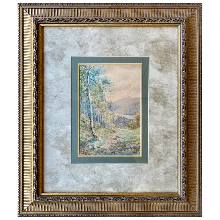 """Original 19th Century """"Loch Achilty"""" Watercolor Painting by L.G. Bomford, 1889 For Sale"""
