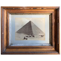 Original 19th Century Photograph of the Great Pyramid in Egypt by Felix Bonfils
