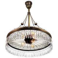Original Wheeler Mirrored Reflector Chandeliers