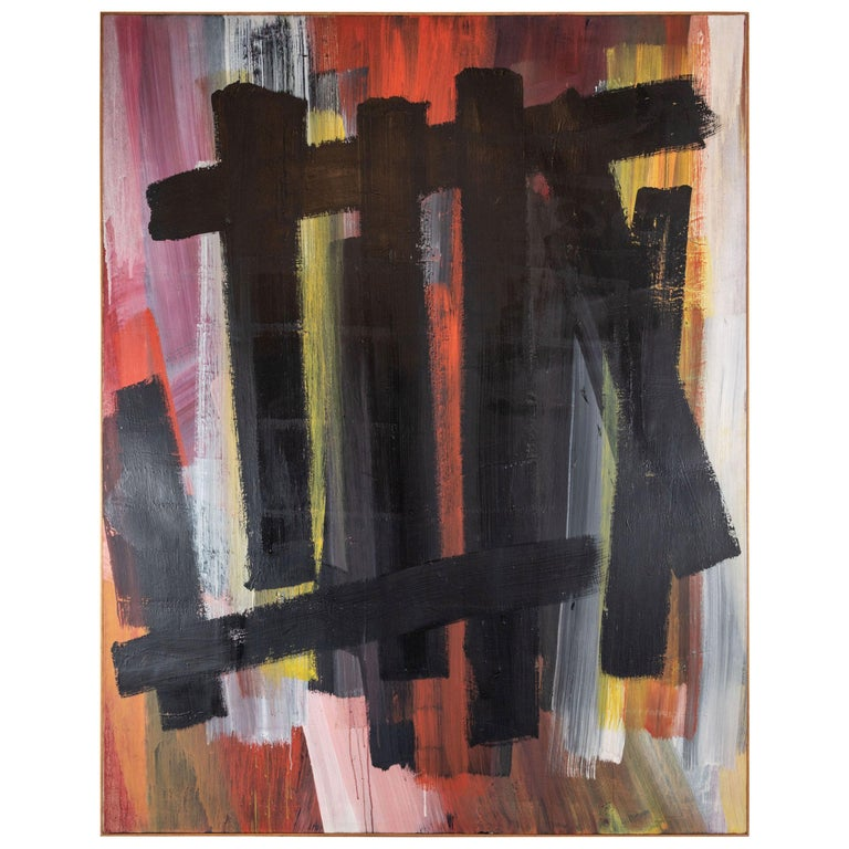 Original, Abstract, 1963 Oil Painting For Sale