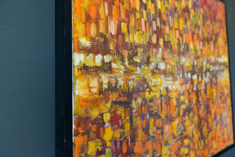 Mid-20th Century Original Abstract Oil on Canvas, ca. 1965 For Sale