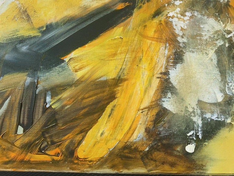 American Original Abstract Painting, Large Signed Contemporary Expressionist Artwork For Sale