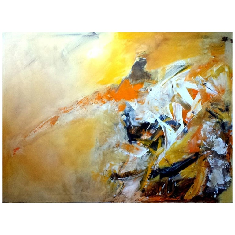 Original Abstract Painting, Large Signed Contemporary Expressionist Artwork For Sale