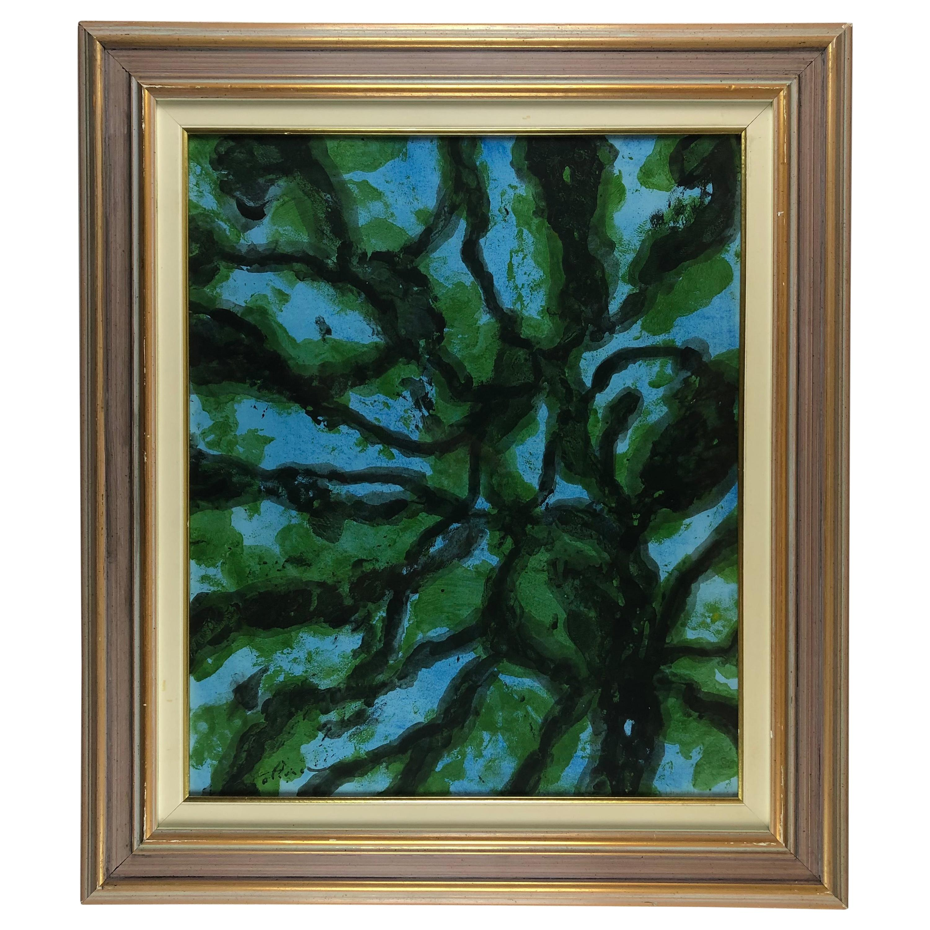 Original Abstract Painting Signed Olivier