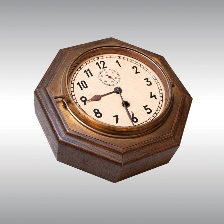 Austrian Original Adolf Loos Wall Clock Jugendstil, 1920 For Sale