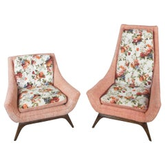 Original Adrian Pearsall His & Hers Lounge Chairs Mid-Century Modern Atomic