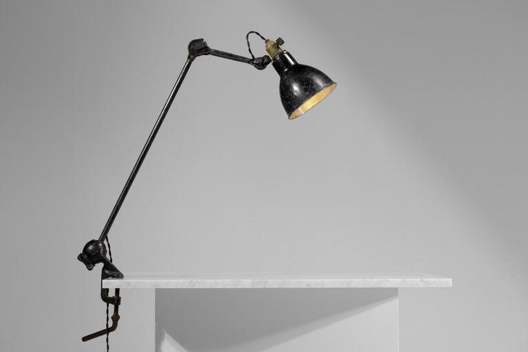 Original Albert Albin Gras Metal Workshop Lamp Table Le Corbusier 1940, F009 For Sale 4