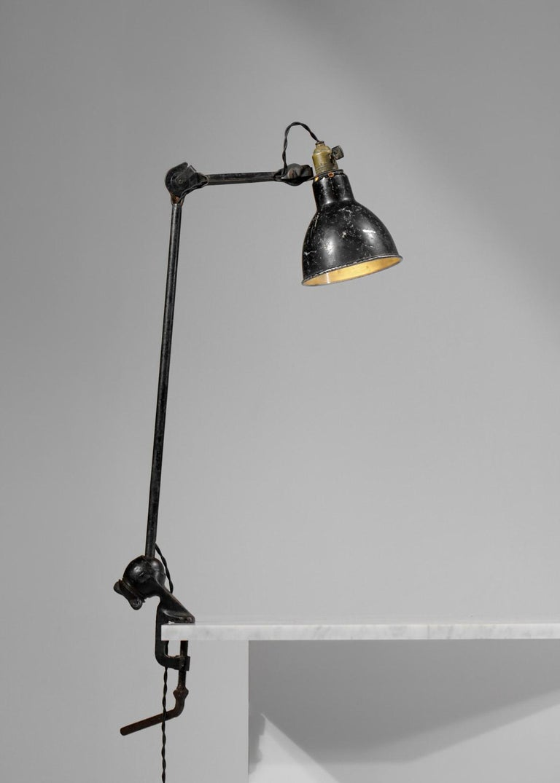 Industrial Original Albert Albin Gras Metal Workshop Lamp Table Le Corbusier 1940, F009 For Sale