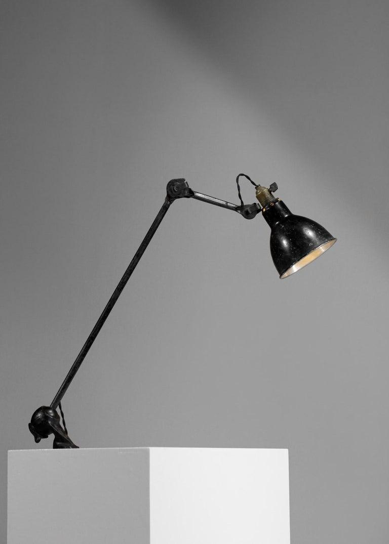 Original Albert Albin Gras Metal Workshop Lamp Table Le Corbusier 1940, F009 In Good Condition For Sale In Lyon, FR