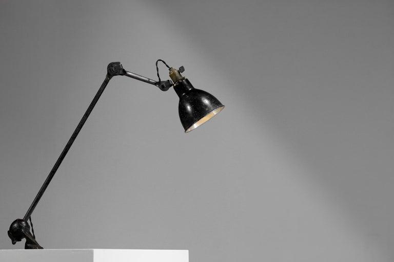 Mid-20th Century Original Albert Albin Gras Metal Workshop Lamp Table Le Corbusier 1940, F009 For Sale