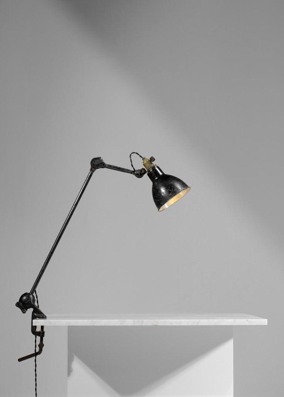 Original Albert Albin Gras Metal Workshop Lamp Table Le Corbusier 1940, F009 For Sale 3