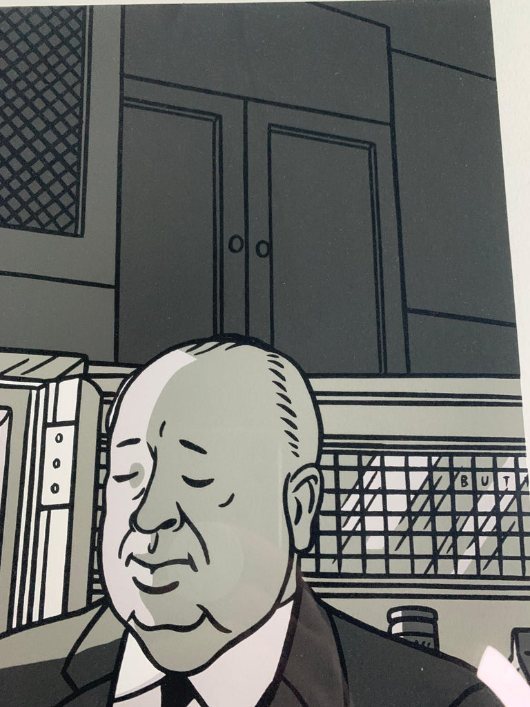 Mid-20th Century Original Alfred Hitchcock Out of the Fridge 1953 by Floc'h, Signed and Numbered For Sale