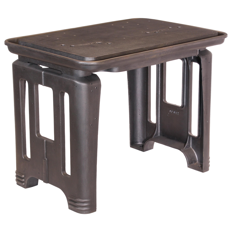 Original American Art Deco Industrial Steel Table / Desk / Kitchen Island