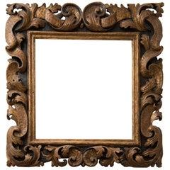 "Original Ancient ""Sansovino"" Wood Frame, 17th Century"