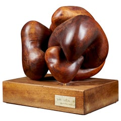 Original and Unique Wooden Abstract Sculpture, Spain, 1979