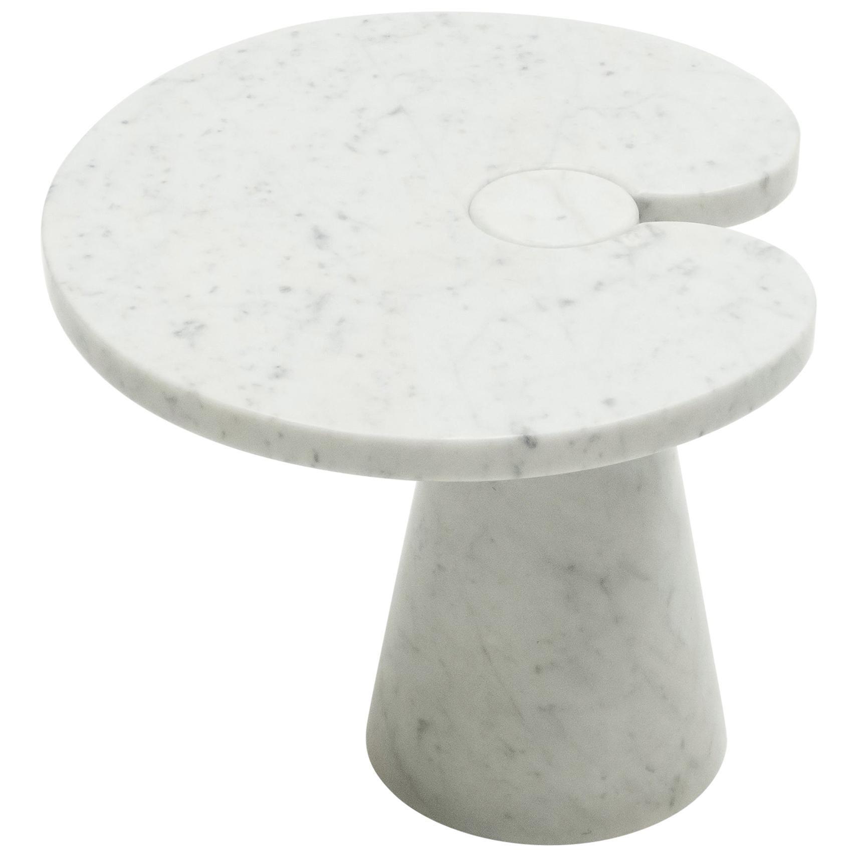 Original Angelo Mangiarotti Marble Side Table Eros Series, Italy, 1970s