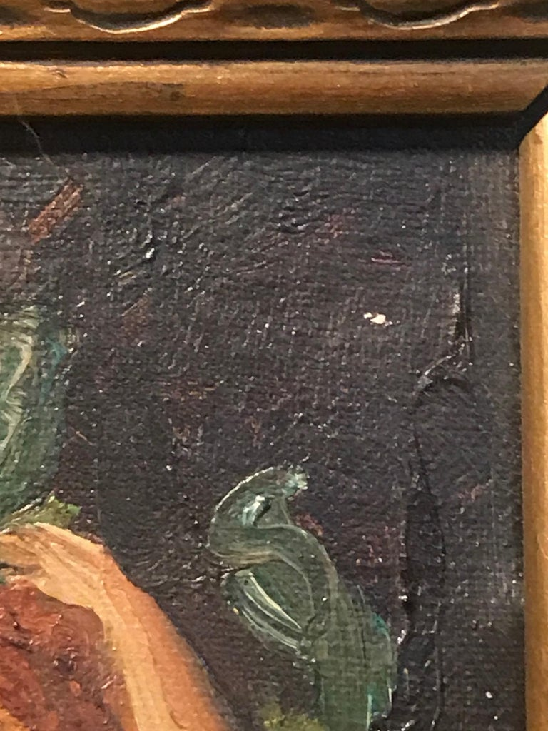 Canvas Original Antique American Oil Painting, Signed Charles Walter Stetson, 1900 For Sale