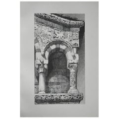 Original Antique Architectural Print by John Ruskin, circa 1880, 'Lucca'