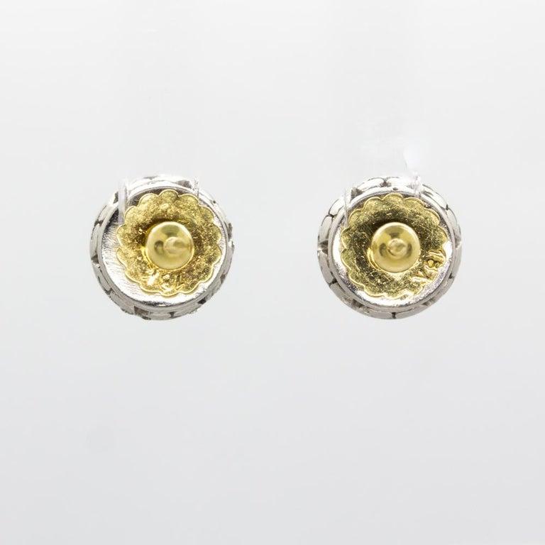 Original Antique Art Deco 18 Karat and Platinum Old Mine Cut Diamonds Earrings For Sale 3