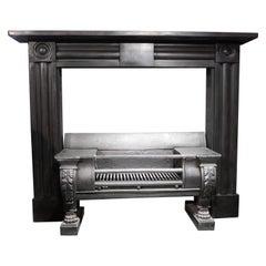 Original antique Georgian slate bulls eye fireplace