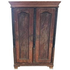 Original Antique Hungarian Pine Armoire, circa 1880s