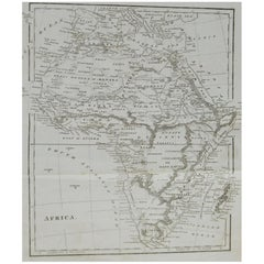Original Antique Map of Africa, circa 1800