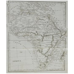 Original Antique Map of Africa, circa 1800
