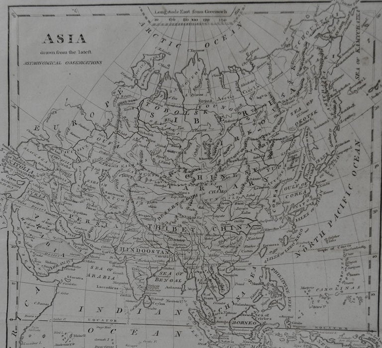 Other Original Antique Map of Asia, circa 1800 For Sale